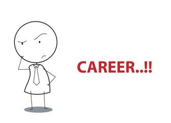 businessman wondering career