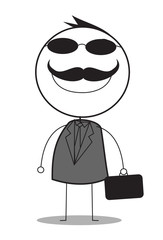 businessman with black glasses