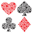 Playing card suits. Vector illustration.