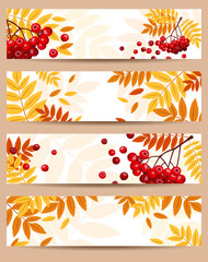 Set of four vector autumn banners (468x120px).