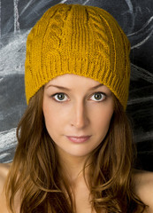 Girl in the knitted cap