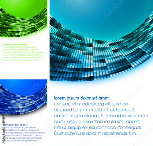 brochure template, layout, cover set