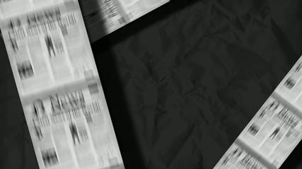 Newspaper headlines magazine template animation video
