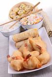 assortment of asian food