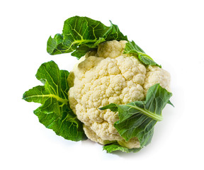 The fresh cauliflower