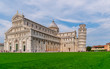 Tower and cathedral at the meadow of miracles, Pisa, Italy
