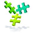 icône puzzle vert