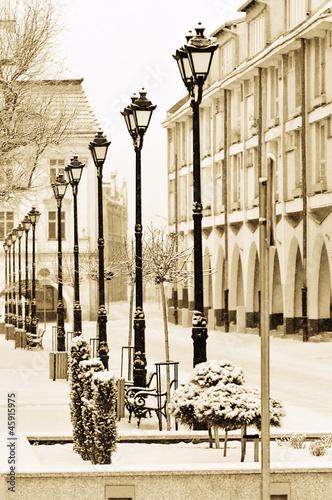 Fototapeta Retro photo of an old town