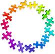 icône puzzle - rosace arc en ciel
