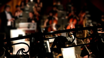 view on orchestra in theatre
