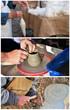 Lavoro artigianale. Dettaglio mani.