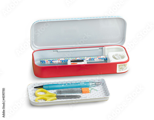 useful metal pencil box and other accessory stationary for child