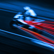 speeding motorcycle blur