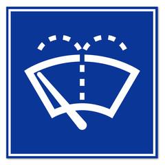 Señal simbolo limpiaparabrisas