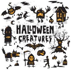 Halloween Creatures Set