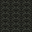 Traditional japanese seigaiha waves seamless pattern