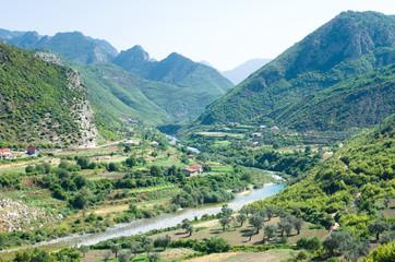 Idyll Valley Of Kiri River Near Drisht, Albania