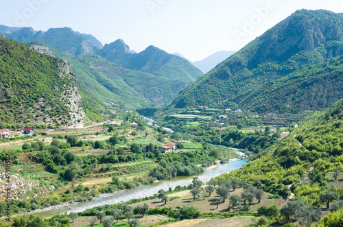 Idyll Valley Of Kiri River Near Drisht, Albania