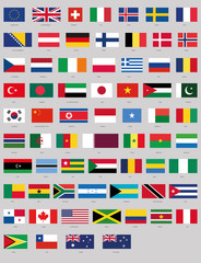 vector national flags