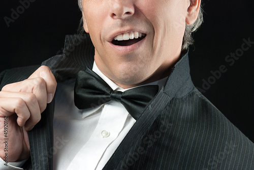 Man In Tux Does Elvis Impression