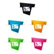 Symbole vectoriel papier origami E-shop / Paiement CB