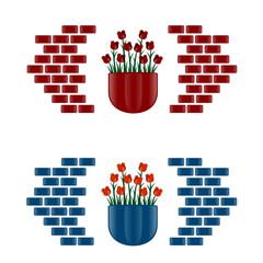 vasi di fiori per pareti