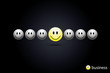 Business concept yellow smiley link vector eps10