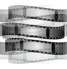 film roll background isolated on white background