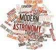 Постер, плакат: Word cloud for Modern Astronomy