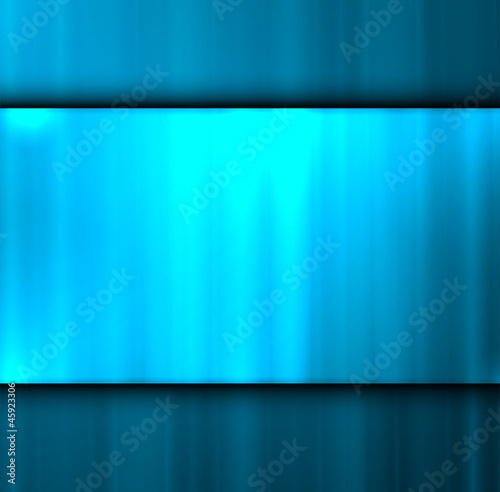 Empty metal textured place for text. Vector illustration