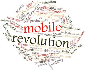 Word cloud for Mobile Revolution
