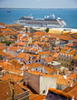 Beautiful view of Lisbon old city, Portugal
