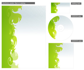Abstract green corporate identity design