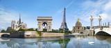 Fototapety Panorama Paris France
