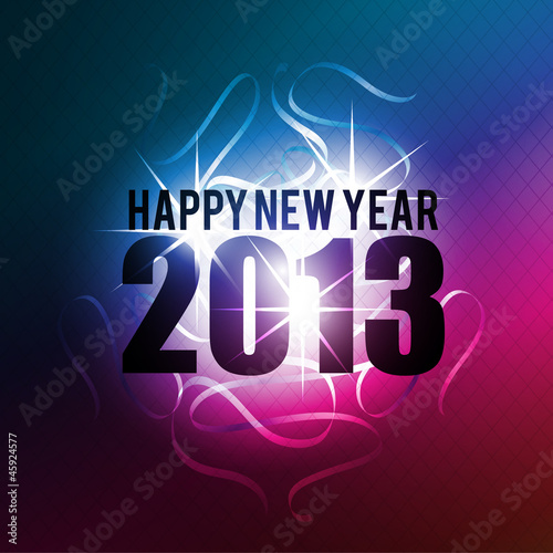 abstract 2013 new year celebration background