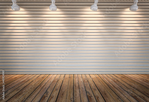 background wall with lighting