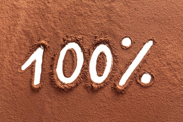 100% written with cocoa powder