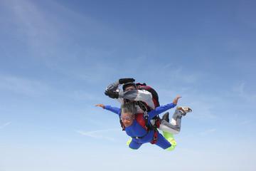 Saut en parachute en tandem (je vole ...)