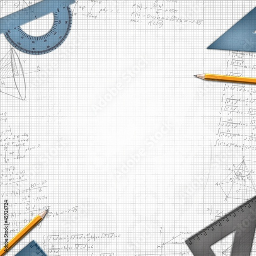 mathematic school background illustration
