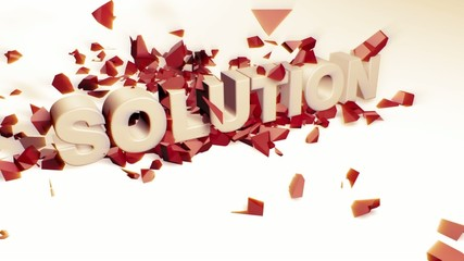 Palabra solucion rompiendo palabra problema