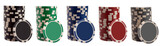 Various gambling chips