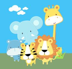 baby safari friends