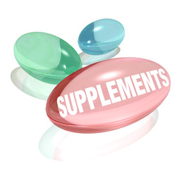 Supplements Vitamins for Healthy Living Wellness