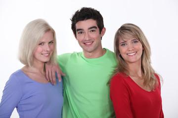 Three friends in their twenties