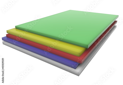 Sheets of color plastic