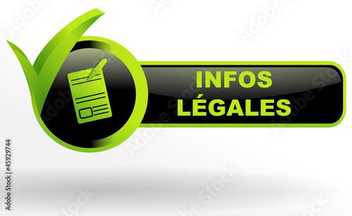 infos légales sur bouton web vert et noir