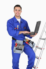 Tradesman posing with his tools