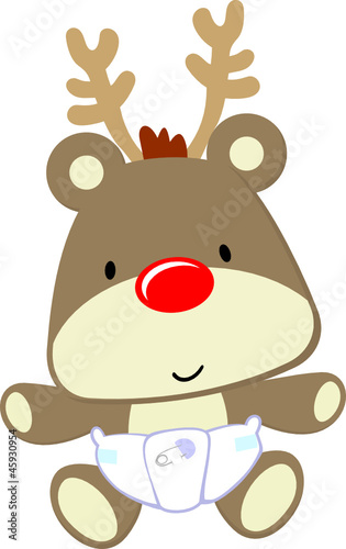 baby rudolph cartoon