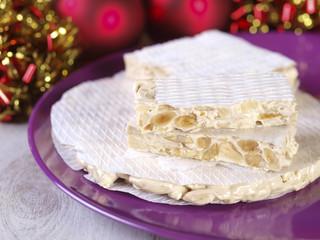 Spanish Christmas sweets.  Turron, torrone, nougat, ...