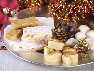 Spanish Christmas sweets.  Turron, mazapan, marzipan,...
